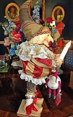 Antique Style Display Punch The Polichinelle Holding Santa Automaton | eBay