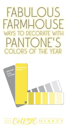 Check out these Fabulous ways to decorate with Pantone's Colors of the Year with a touch of Farmhouse Style. Ultimate Gray and Illuminating have so many possibilities. It doesn't happen often… but this year Pantone has not one but two Colors of the Year. Ultimate Gray which is warm and inviting and Illuminating which is like a burst of Sunshine! Both colors lend themselves to the Farmhouse Home Decor Style as well as just about any other Home Decor Flair from Boho to Modern! #Pantone
