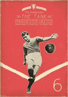 Duncan Edwards - The tank - Manchester United - Soccer - Poster Retro Football, Football Art, Vintage Football, Football Signs, Soccer Art, Sport Football, Duncan Edwards, Soccer Poster, Poster Boys