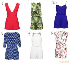 Spring/Summer 2014 Fashion Trends - Rompers/Playsuits