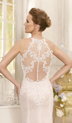 Lace halter fitted Wedding Dress by Fara Sposa 2017 Bridal Collection Designer: Fara Sposa SEE POST SEE GALLERY