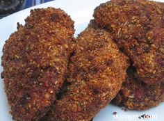 Black Pepper and Walnut Crusted Chicken Breasts - The combination of black pepper and walnuts makes a crispy chicken that has spicy bite.