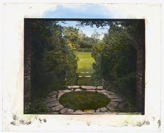 "Summer 1917 -  ""Hammersmith Farm,"" Hugh Dudley Auchincloss house, Harrison Avenue, Newport, Rhode Island. View from entrance to rock garden."