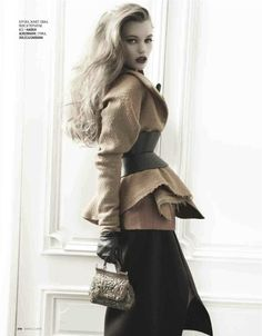 Haider Ackermann + Dolce & Gabbana. Love this look for fall.    Lyoka Tyagnereva for Marie Claire Russia, September 2012. Shot by Alan Gelati.