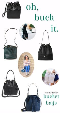 bucket bags y'all // take a bite: A Bag and A Bargain
