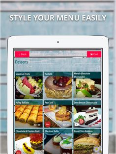 This is your menu and it has to express your company. Style your menu easily with FineDine Tablet Menus.   You easily change your colors, texts, backgrounds, buttons, allignments,   #menudesign #menudesigner #fastdesign #quickdesign #textallignment #background #menubackground #menubutton #menucolor #foodcolor #tabletmenu #ipadmenu #menutablet #digitalmenu #menucard