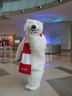 World of coke polar bear in Atlanta Georgia