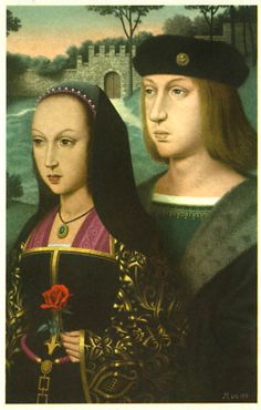 Philip I (the handsome) and Joanna (the mad) of Castile, King and Queen of Castile 1504 - 1506/1555 (695×1091) (Picture by the master of St. Joseph, Vienna and French School)