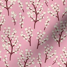 Winter custom fabric by rebelform for sale on Spoonflower Cherry Blossom Nails, Winter Berries, Pattern Illustration, Custom Fabric, Creative Business, Spoonflower, Pattern Design, Craft Projects, Gift Wrapping