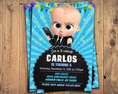 Boss Baby Printable Invite, Boss Baby, Boss Baby Invitation, Boss Baby Birthday, Boss Baby Party, Boss Baby Invites, Boss Baby Printables
