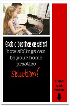 Did you know siblings can play a huge role in successful home practice? Find out how #pianoteachinghacks #pianostudents #practicesolutions