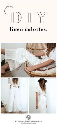 b92f1eabe8 DIY tutorial for linen culottes. Perfect as a winter layer that can easily  be dressed