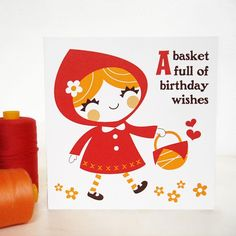 Little Red greeting card idea