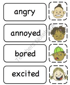 Preschool Printables: All About Feelings Printable