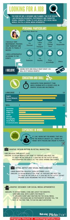 Infographic Resume 13 - http://infographicality.com/infographic-resume-13-2/
