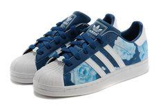 ontdekken goedkope Adidas Superstar II Rose Blauw marine Wit Dames Schoenen 2016
