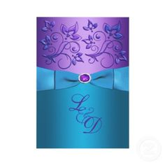 Marvelous Picture of Purple And Turquoise Wedding Invitations Purple And Turquoise Wedding Invitations Purple Turquoise Floral Monogram Wedding Invite In 2018 Wedding Teal Wedding Invitations, Affordable Wedding Invitations, Sweet 16 Invitations, Party Invitations, Royal Invitation, Invitation Ideas, Invitation Design, Invitation Cards, Aqua Wedding