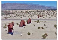 Dennis Avery, land owner of Galleta Meadows Estates in Borrego Springs envisioned the idea of adding 'free standing art' to his property wit...