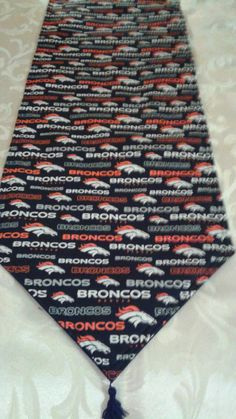 Denver Broncos Reversible Table Runner. New Fabric now in Stock!!