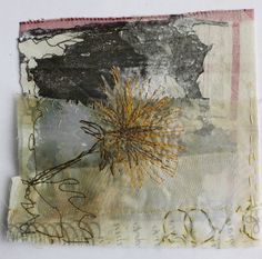 Cas Holmes of Maidstone, Kent, United Kingdom is interview 106 of the Weekly Artist Fibre Interviews Freehand Machine Embroidery, Free Motion Embroidery, Textile Fiber Art, Textile Artists, Collage Artists, Cas Holmes, Tea Bag Art, Creative Textiles, Textiles Techniques