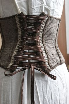 Knitted Corset!! Awesome and wonderful. From new book - Vampire Knits and also on the blog thriftyknitter