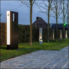 Brievenbus maatwerk corner design brievenbus ambrosia design garden pinterest letter - Verlicht bois moderne ...