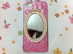 New Chic Bling Elegant Pearls Mirror Sparkle Pink by Mobimoda, $24.99
