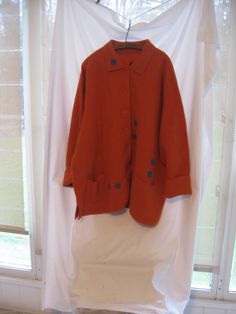 68f0209214648 4X funky needle felted up cycled boiled wool coat Boiled Wool Jacket