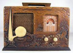 1939 New York World's Fair Radio Antique Shops, Old Antiques, Antique Radio Cabinet, World Radio, Retro Radios, Prop Design, Design Ideas, Celebration Quotes, Vintage Iron