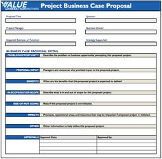 Regardless of your project business case proposal template format WDTPcN00
