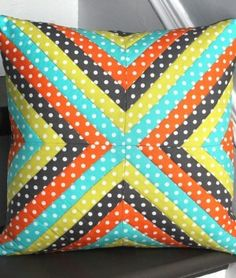 How To Make a Quilted Pillow – Strip Quilt Technique