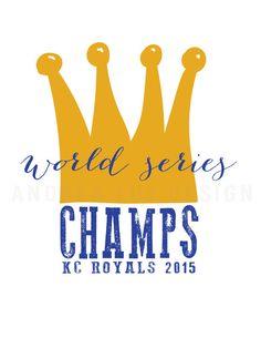 Kansas City Royals World Series 2015 Art Printable by HandfulOfArrows on Etsy