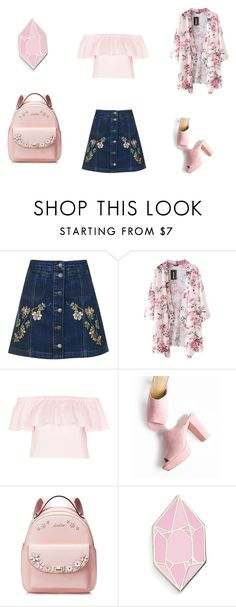 """pink"" by elizaveta-pushkareva on Polyvore featuring мода, Topshop, Big Bud Press, Pink и polyvorefashion"