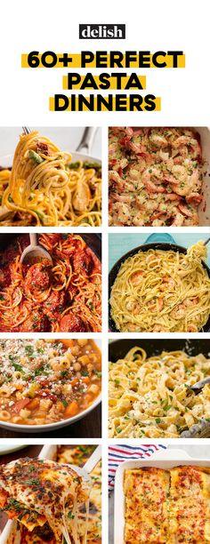 This Crock-Pot Spaghetti Is the Fuss-Free Pasta You Need Tonight - Warme Küche - Easy Pasta Dinner Recipes, Best Pasta Recipes, Easy Pasta Dinners, Weeknight Dinners, Salad Recipes, Healthy Pastas, Easy Healthy Dinners, Healthy Recipes, Noddle Recipes
