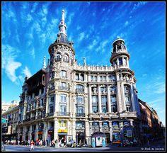 Madrid. Edificio Meneses, Plaza de Canalejas. | Photo José Manuel Azcona