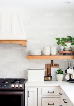 The debate of floating kitchen shelves vs. cabinets is a hot topic years into the open shelving trend. Read 15 pros & cons to settle it once and for all! #fromhousetohaven #openshelving #kitchenideas #floatingkitchenshelves #kitchenshelves #floatingshelves #kitchendesign Wooden Kitchen, Rustic Kitchen, Kitchen Decor, Kitchen Ideas, Kitchen Layouts, Kitchen Inspiration, Design Inspiration, Design Ideas, Fresh Farmhouse
