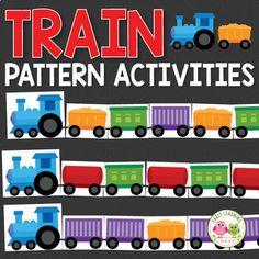 Preschool Transportation Crafts, Transportation Preschool Activities, Preschool Centers, Train Activities, Kindergarten Activities, Toddler Activities, Math Centers, Train Crafts Preschool, Transportation Unit