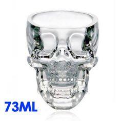 5 pièces Crystal Skull Head Vodka Whisky verre à Shot potable Ware ...