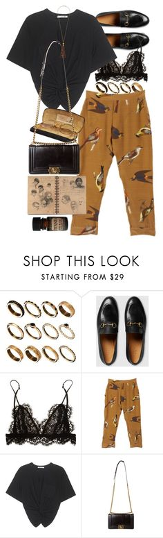 """Untitled #10495"" by nikka-phillips ❤ liked on Polyvore featuring ASOS, Gucci, Isabel Marant, T By Alexander Wang, Chanel, Kenneth Jay Lane and Lab"