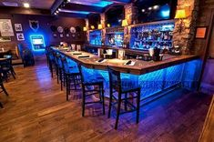 Installing a bar in your home is a great way to make sure that when you have company over everybody has a fun place to spend time together. A dedicated bar Basement Bar Designs, Home Bar Designs, Basement Ideas, Basement Bar Plans, Man Cave Basement, Rustic Basement Bar, Home Bar Plans, Man Cave Garage, Diy Home Bar