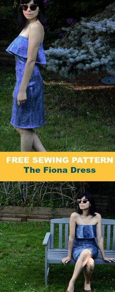 FREE SEWING PATTERN: The Fiona Dress. Learn how to make this easy summer dress for women at On the Cutting Floor. Sizes from 4 to 22.