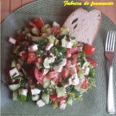 Salata de vara bulgareasca sanatoasa si satioasa Caprese Salad, Feta, Cheese, 3 Ingredients, Salads, Insalata Caprese
