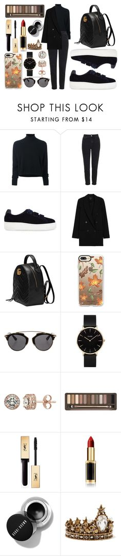 """""""Black"""" by goldelina on Polyvore featuring мода, Le Kasha, Topshop, Sandro, Gucci, Casetify, Christian Dior, CLUSE, Diamond Splendor и Urban Decay"""