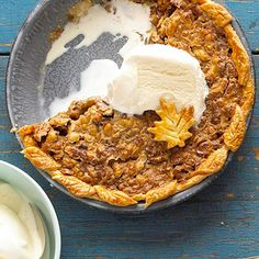 Best Fall Pies & Tarts This Maple-Nut Pie embodies fall.This Maple-Nut Pie embodies fall. Fall Dessert Recipes, Pie Dessert, Fall Desserts, Fall Recipes, Just Desserts, Holiday Recipes, Dessert Ideas, Holiday Pies, Holiday Dinner