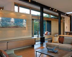 Image result for exposed i beams