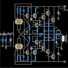 How to Make a Hi-Fi 100 Watt Amplifier Circuit Using 2N3055 Transistors | Electronic Circuit Projects