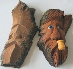 "study stick carving | Jim O'Dea ""Human Face Carving, creating your own study sticks, Face"