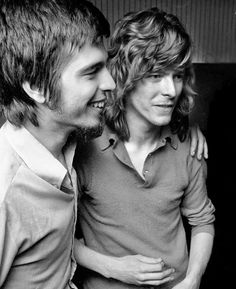 David Bowie with producer Tony Visconti, Trident Studio, London, May 1970 at work on The Man Who Sold The World, by Rolf Adlercreutz