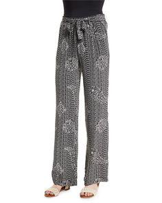 "Joie ""Nurrin"" pants in batik paisley-print. back patch pocket. Silk Pants, Harem Pants, Pajama Pants, Joie Clothing, New Fashion, Womens Fashion, Paisley Print, Printed Silk, Clothes"