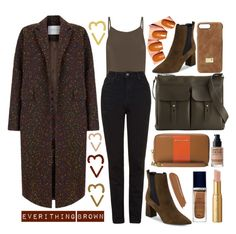 """""""brown"""" by faesadanparkaia ❤ liked on Polyvore featuring FELLA, The 2nd Skin Co., Topshop, Marc Fisher LTD, Ralph Lauren, HEX, MICHAEL Michael Kors, MAKE UP FOR EVER, By Terry and Christian Dior"""